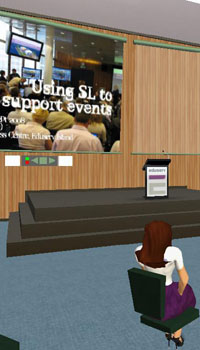 Second Life event postcard